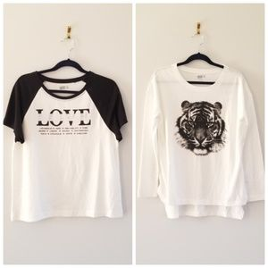 2 Crazy 8 Girls Tops size M(7-8)